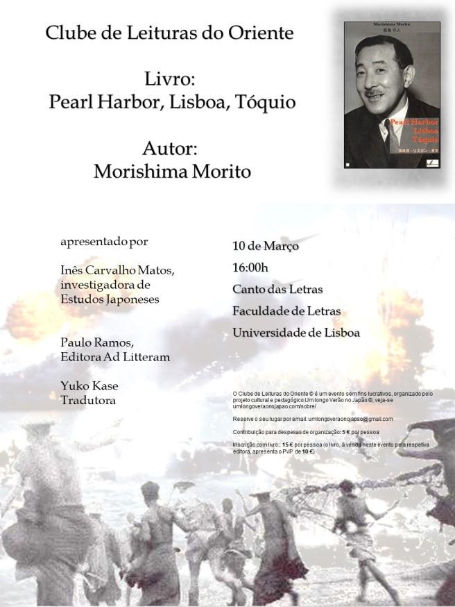 Morishima morito - livro - clube de leituras - Lisboa - 2018 - CARTAZ
