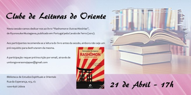 clube de leituras do oriente LISBOA 21 de abril 2018